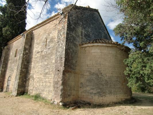 """Résultat de recherche d'images pour """"photo de la chapelle romane de saint caprais à castillon"""""""