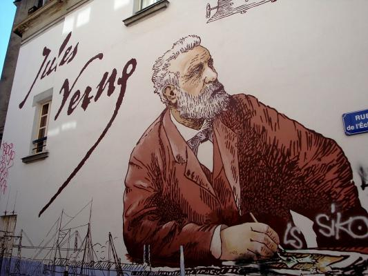 Fresque Jules Verne Nantes 44 44000 Http Bit Ly Aymbmd